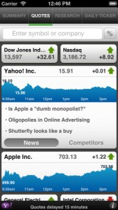 yahoo finance for iphone